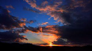 Sonnenuntergang vom Truppenübungsplatz aus gesehen